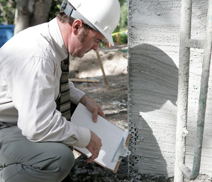 structural engineer evaluating foundation in Corpus Christi